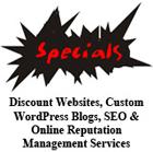 Discount websites custom wordpress blogs photoshop SEO online reputation management