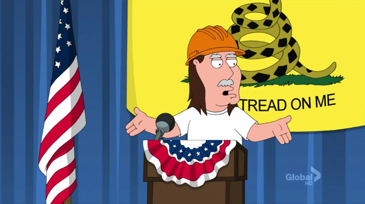 Watch The Time Family Guy Trashed the Tea Party – VIDEO
