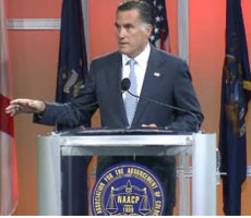 Romney gets Booed by the NAACP