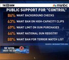 Majority of Americans favor gun control measures