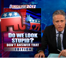 Jon Stewart slams Romney and Fox News for lying
