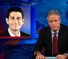 Jon Stewart Rips Media Coverage of the Paul Ryan Nomination