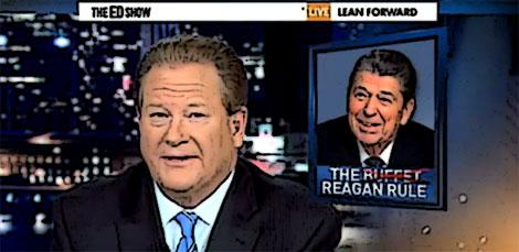 Ed Schultz: the Buffet-Reagan Rule