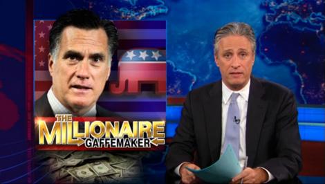 Jon Stewart: Mitt Romney the Millionaire Gaffemaker (VIDEO)