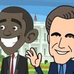 Barack to the Future - Political Parody Cartoon