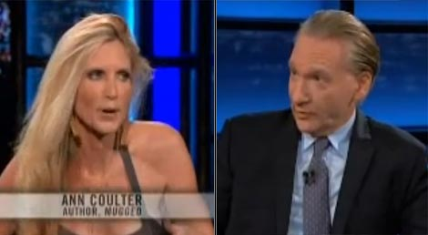 Bill Maher vs Ann Coulter on Racism and the Election (VIDEO)