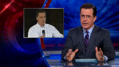 Colbert presents: Romney's first day in office