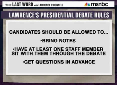 Lawrence O'Donnell shares some thoughts going into the 2nd debate