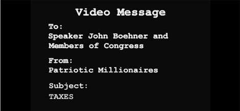 Patriotic Millionaires' Message to Congress – 'Tax Me'