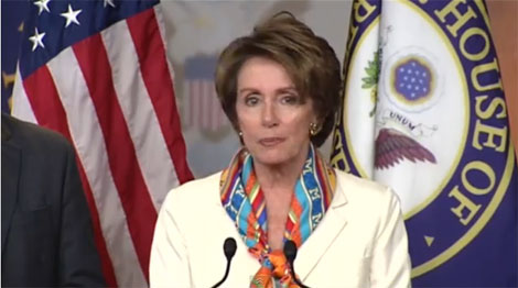 Nancy Pelosi accuses Republicans of holding the middle class hostage