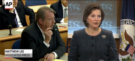 Heated Exchange During Israel Briefing (VIDEO)
