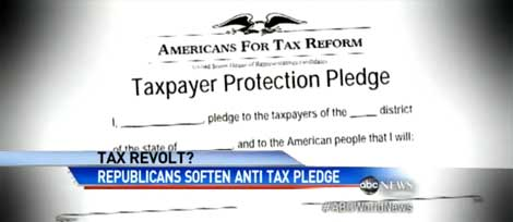 Tax Pledge Mutiny as Fiscal Cliff Approaches