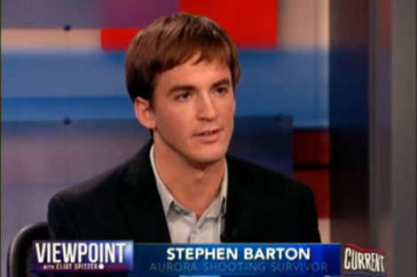 Aurora shooting victim Stephen Barton on gun control