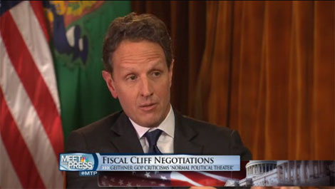 Geithner predicts GOP will agree to raise taxes on rich