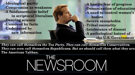 'The Newsroom' Nails The Tea Party For Exactly What It Is‏ (VIDEO)