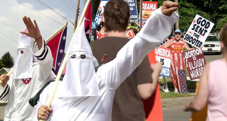 The Ku Klux Klan Protests Westboro Baptist Church And Their Hateful Anti-American Tactics – VIDEO