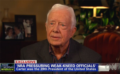 Jimmy Carter: 'NRA pressuring weak-kneed officials' (VIDEO)