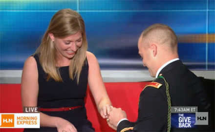 Soldier Makes A Surprise Proposal On TV (VIDEO)