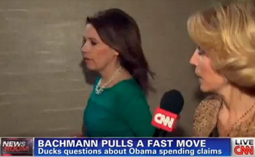 Caught In Lies – Michele Bachmann Tries To Flee CNN Reporter (VIDEO)