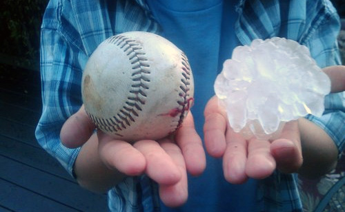 What Do These Things Have In Common: Baseball Sized Hail In Texas and Tar Sands Oil Spill In Arkansas?