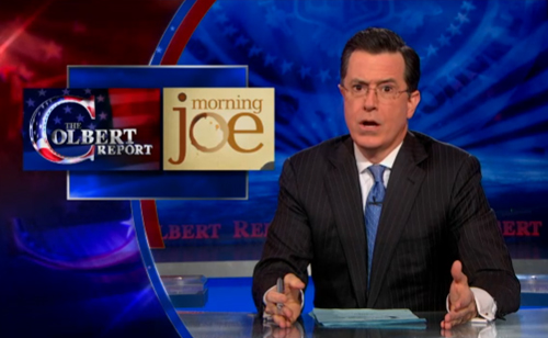 Morning Joe vs. The Colbert Report