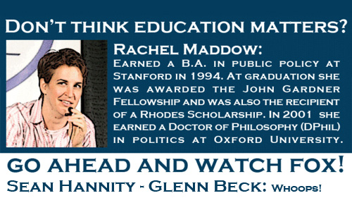 Don't Think Education Matters? Go Ahead and Watch Fox!
