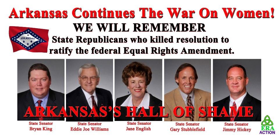Republicans Kill Arkansas ERA Ratification In Senate Committee