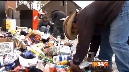 SHOCKING: While A Community Starves Around Them, This Bank Throws Away Food