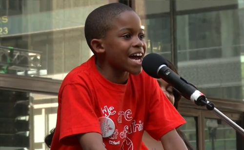 9-Year Old Stands Up To Rahm Emanuel About School Closings (VIDEO)