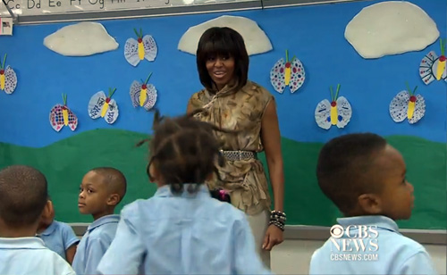 Michelle Obama Gets Her Groove On At D.C. School (VIDEO)