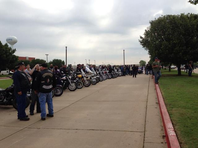 bikers protect 9yearolds funeral from westboro