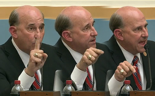 Tea Party Favorite Louie Gohmert Loses It While Questioning Holder (VIDEO)