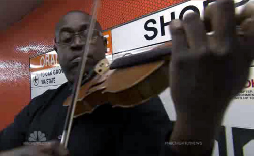 Violinist's Subway Performances Fund Lessons for Low-Income Children