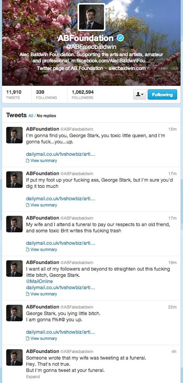 Alec Baldwin Blasts Ba... Alec Baldwin Twitter