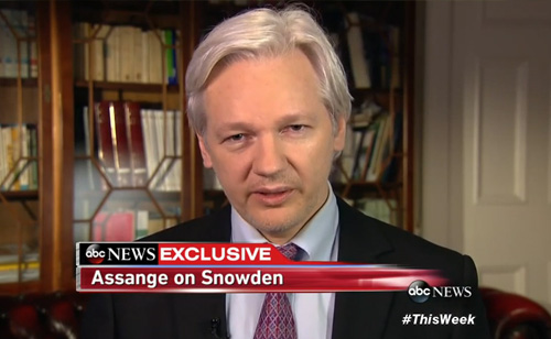 'This Week' Exclusive: Julian Assange On Edward Snowden (VIDEO)