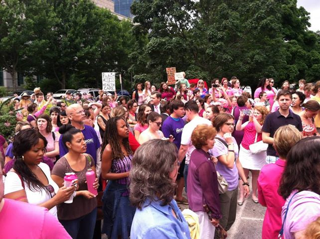 Pro-Choice Senators Speak Out – Protestors Flock Into Raleigh (VIDEOS)