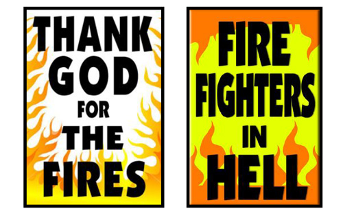 Westboro Baptist Hate Group Praises Arizona Fire – to Picket Firemen's Funerals