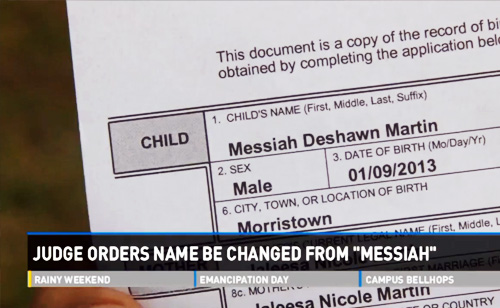 Judge Orders Child's Name Changed from 'Messiah' (VIDEO)