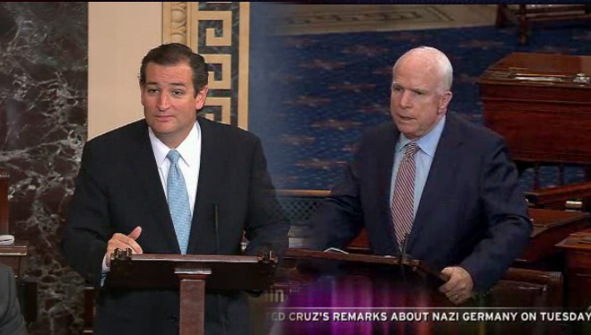 McCain Lights into Cruz for Nazi Germany Remarks