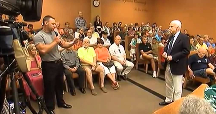The Time McCain Was Accused of 'Treason' At His Own Town Hall Meeting – VIDEO
