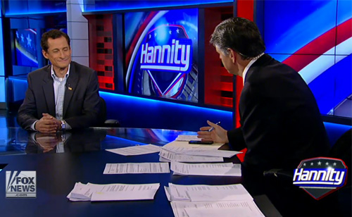 Epic Brawl between Anthony Weiner and Sean Hannity