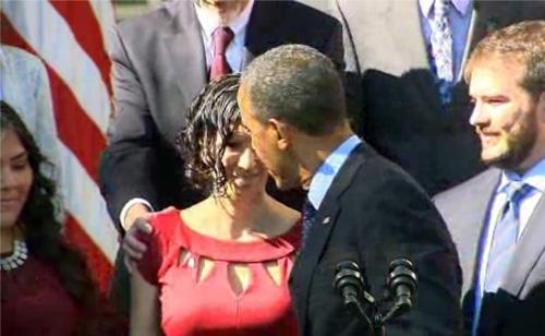 Obama Halts Speech to Help Woozy Woman on Stage