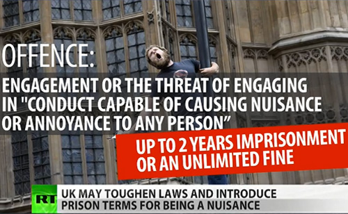 UK's Nuisance Law Threatens Protesters, Criminalizes Childhood (VIDEO)