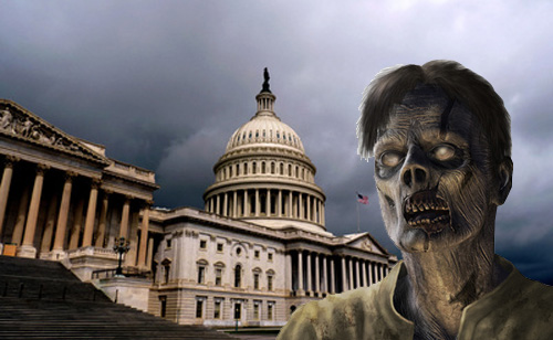 Who's scarier – Zombies or Congress? (MEME)