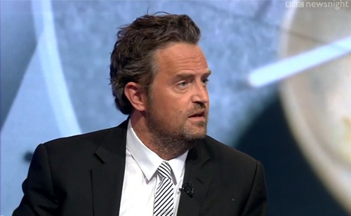 'Friends' Star Matthew Perry Clashes With Journalist Over Drug Policy