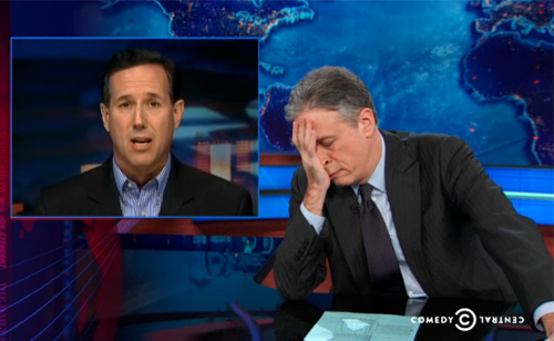 Jon Stewart Shouts 'Apartheid is Not Obamacare'