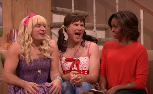 Watch 'Ew!' with Jimmy Fallon, Will Ferrell & First Lady Michelle Obama