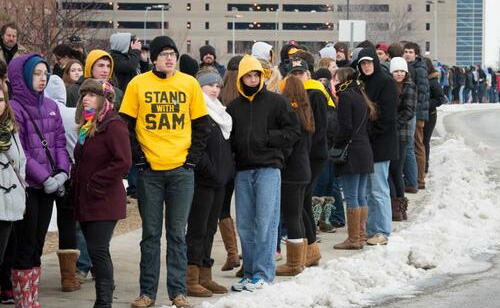 'Stand With Sam' Supporters block Westboro Baptist Church Protest