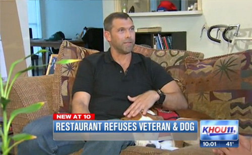 Disabled Vet Kicked Out Of Houston Restaurant Over Service Dog (VIDEO)