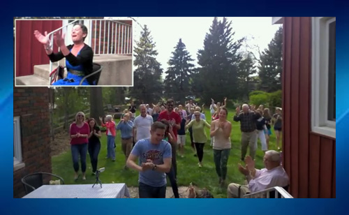 Terminally Ill Woman Surprised By Flash Mob Of Friends And Family (VIDEO)